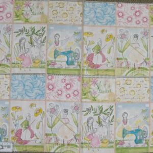 Country-Patchwork-Quilting-Fabric-Sit-Sew-Cotton-Panel-60-x-110cm-New-161799914279