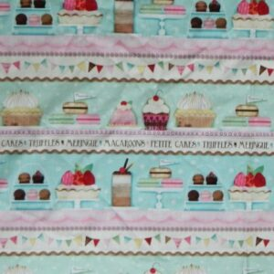 Country-Patchwork-Quilting-Fabric-Sugary-Sweet-Cupcakes-Panel-60x110cm-New-161771503030