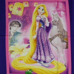 Country-Patchwork-Quilting-Fabric-TANGLED-RAPUNZEL-LARGE-Panel-90-x-110cm-New-112143816508
