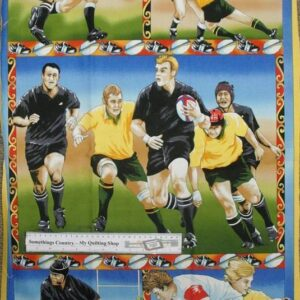 Country-Patchwork-Quilting-Fabric-Union-Football-League-Panel-60-x110cm-New-161629162381