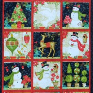 Country-Patchwork-Quilting-Fabric-XMAS-SNOWMAN-WINTER-Sewing-Panel-60x110-cm-NEW-112108311041