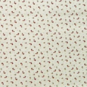 Country-Patchwork-Quilting-Sewing-Fabric-CREAM-FLOWERS-Small-Print-FQ-50x55cm-161986516737