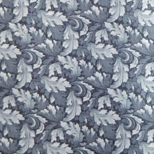 Country-Patchwork-Quilting-Sewing-Fabric-MUMS-LEAVES-BlueGrey-FQ-50x55CM-NEW-161986457897