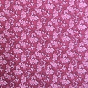 Country-Patchwork-Quilting-Sewing-Fabric-MUMS-LEAVES-Rose-Pink-FQ-50x55CM-NEW-161986455673