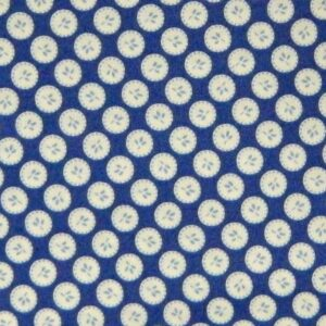 Country-Patchwork-Quilting-Sewing-Fabric-ORIENTAL-BLUE-CIRCLES-FQ-50x55cm-NEW-111913844903
