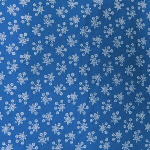 Country-Patchwork-Quilting-Sewing-Fabric-PERSIAN-BLUE-White-Flowers-FQ-50x55cm-161986588204