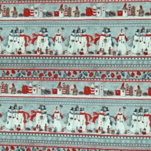 Country-Patchwork-Quilting-Sewing-Fabric-SNOWMAN-PATCH-FQ-Xmas-Borde-50x55cm-NEW-111914841349