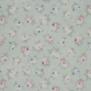 Country-Patchwork-Quilting-Sewing-Fabric-SPRING-ROMANCE-Rosebuds-Green-FQ50x55cm-161987475292