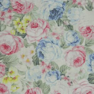 Country-Patchwork-Quilting-Sewing-Fabric-SPRING-ROMANCE-Roses-Clutter-FQ-50x55cm-161987478721