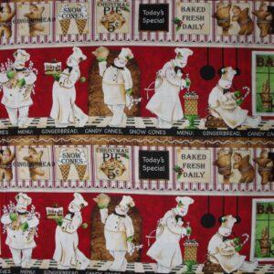 Country-Quilting-Cotton-Sewing-Fabric-Bakers-Dozen-Cooking-FQ-50-x55cm-New-110933157850