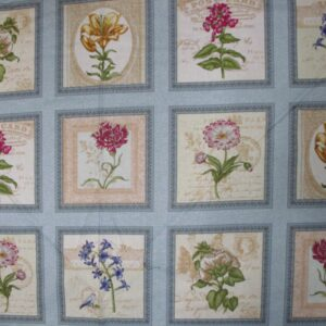 Country Quilting Cotton Sewing Fabric Panel New - Arboretum Floral Panel 60x110