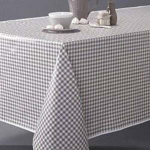 Country Style New Table Cloth TAUPE GINGHAM Tablecloth Assort Size New  Cotton