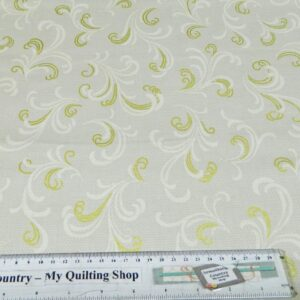 DOWNTON-ABBEY-Grey-Metallic-Patchwork-Quilting-Fabric-Material-Cotton-FQ50X55cm-111787020613