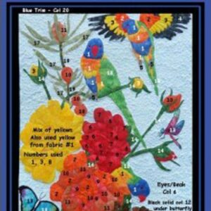 Fat Quarter KIT Batik Quilt x Number LORIKEETS Patchwork Quilting Fabric Sewing