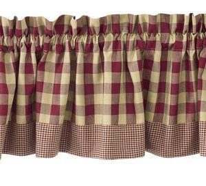 french country curtain ruffled york wine kitchen window valance 180x35cm new