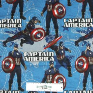 Patchwork-Quilting-Fabric-AVENGERS-CAPTAIN-AMERICA-Material-Cotton-FQ50X55cm-NEW-112143869545