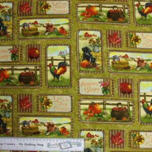 Patchwork-Quilting-Fabric-Autumn-Bountry-allover-Cotton-Fat-Quarter-FQ-111391128350