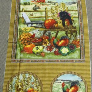 Patchwork-Quilting-Fabric-Autumn-Bounty-Panel-Lg-Material-for-Patchwork-New-161348450817