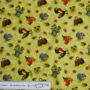 Patchwork-Quilting-Fabric-Autumn-Bounty-allover-2-Cotton-Fat-Quarter-FQ-161348460476