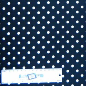 Patchwork-Quilting-Fabric-BLACK-WITH-WHITE-SPOTS-DOT-Sewing-Cotton-FQ50X55cm-NEW-162180127441
