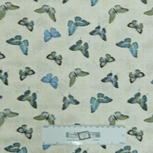 Patchwork-Quilting-Fabric-BLUE-BUTTERFLIES-Sewing-Material-Cotton-FQ-50X55cm-NEW-162143325568