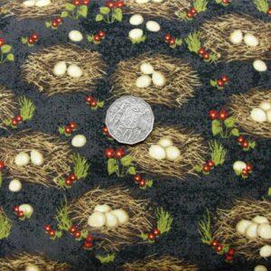 Patchwork-Quilting-Fabric-Bird-Nest-Eggs-chooks-Cotton-Quilt-Fat-Quarter-FQ-161266863467