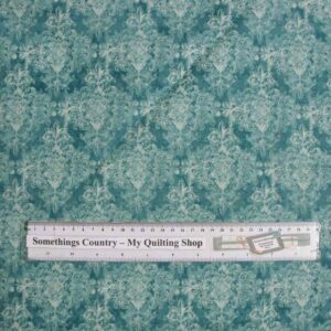 Patchwork-Quilting-Fabric-Blue-Scrolls-Tone-on-Tone-Material-Cotton-FQ-New-161404939867
