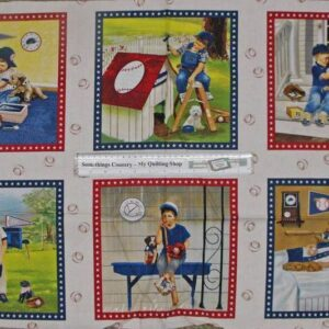 Patchwork-Quilting-Fabric-Boys-will-be-Panel-58-x-110cm-New-Cotton-Quilt-NEW-111555711792