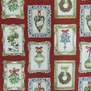 Patchwork-Quilting-Fabric-CHRISTMAS-ORNAMENTS-Material-Sew-Cotton-FQ-50x55cm-NEW-111958581016