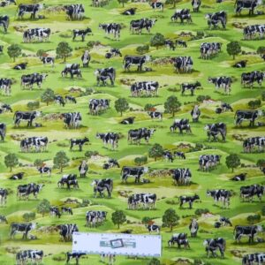 Patchwork-Quilting-Fabric-COUNTRY-FARM-COWS-Sewing-Material-Cotton-FQ-50X55cm-162098192273