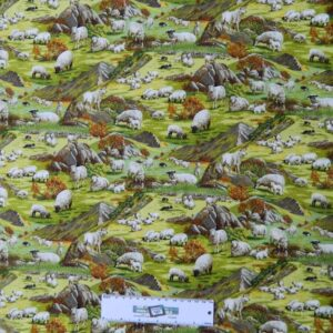 Patchwork-Quilting-Fabric-COUNTRY-FARM-SHEEP-Sewing-Material-Cotton-FQ-50X55cm-112022022976