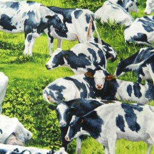 Patchwork-Quilting-Fabric-COWS-IN-MEADOW-Material-Sewing-Cotton-FQ-50x55cm-NEW-111958574964