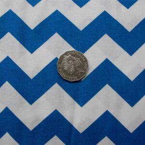 Patchwork-Quilting-Fabric-Chevron-zigzag-Blue-Cotton-Quilt-Fat-Quarter-FQ-111317496410
