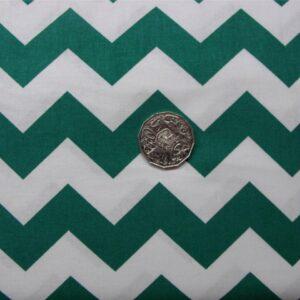 Patchwork-Quilting-Fabric-Chevron-zigzag-Green-Cotton-Quilt-Fat-Quarter-FQ-111317496217