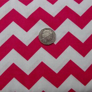 Patchwork-Quilting-Fabric-Chevron-zigzag-Pink-Cotton-Quilt-Fat-Quarter-FQ-New-111317495392