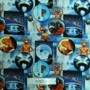 Patchwork-Quilting-Fabric-ET-EXTRA-TERRESTRIAL-Sewing-Material-Cotton-FQ-50X55cm-112055405096