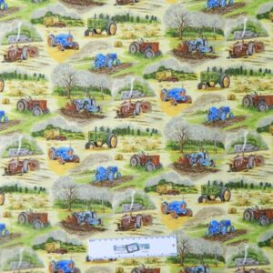 Patchwork-Quilting-Fabric-FARM-TRACTORS-ASSORT-Sewing-Material-Cotton-FQ-50X55cm-162098187824