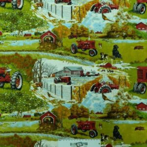Patchwork-Quilting-Fabric-FARMALL-FARM-TRACTOR-Sewing-Material-Cotton-FQ50X55cm-162135085599