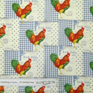 Patchwork-Quilting-Fabric-GREAT-FRENCH-ROOSTER-Material-Cotton-FQ-50X55cm-NEW-111968044964