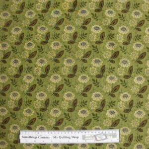 Patchwork-Quilting-Fabric-Green-Flower-Leaves-Cotton-Quilt-Fat-Quarter-FQ-161320440569