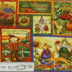 Patchwork-Quilting-Fabric-Harvest-Angels-Panel-Material-for-Patchwork-New-161348455853