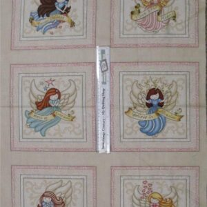Patchwork-Quilting-Fabric-Healing-Hearts-Angels-Panel-60-x-110cm-New-Love-161608177121