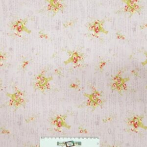 Patchwork-Quilting-Fabric-LILAC-FLORAL-Sewing-Material-Cotton-FQ-50X55cm-NEW-162087994470