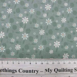 Patchwork-Quilting-Fabric-Life-Friends-BlueGreen-Flowers-Lynette-Anderson-50x55-111603250655