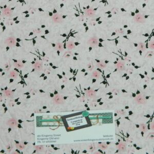 Patchwork-Quilting-Fabric-MADEMOISELLE-PINK-ROSES-Material-Cotton-FQ-50X55cm-NEW-111992191521
