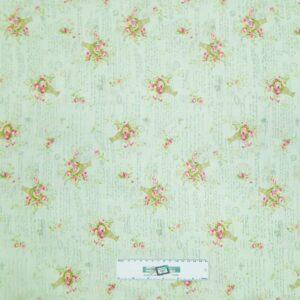 Patchwork-Quilting-Fabric-MINT-GREEN-FLORAL-Sewing-Material-Cotton-FQ50X55cm-NEW-112012579469