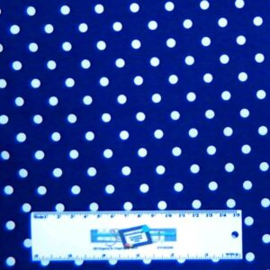 Patchwork-Quilting-Fabric-NAVY-WITH-WHITE-SPOTS-DOTS-Sewing-Cotton-FQ50X55cm-NEW-162180127916
