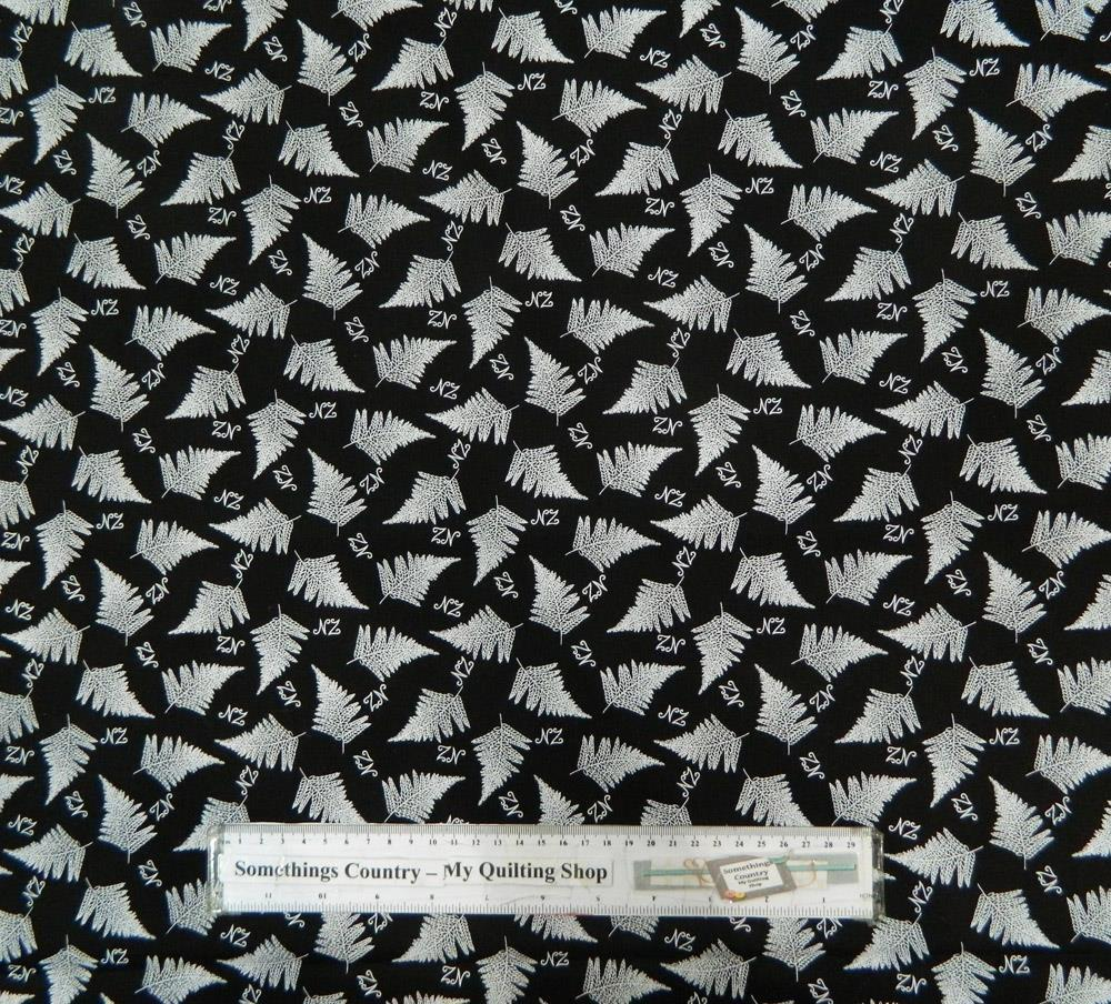 Patchwork Quilting Fabric NZ SILVER FERN Material Sewing Cotton FQ ... : quilting fabric nz - Adamdwight.com