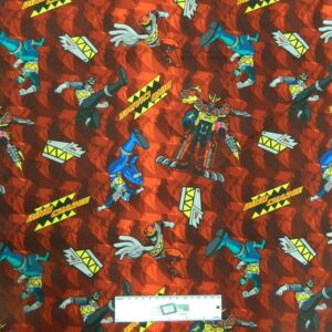 Patchwork-Quilting-Fabric-POWER-RANGES-TV-Sewing-Material-Cotton-FQ-50X55cm-NEW-112055411764