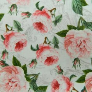 Patchwork-Quilting-Fabric-ROMANTIC-ROSES-Material-Sewing-Cotton-FQ-50x55cm-NEW-111958612402